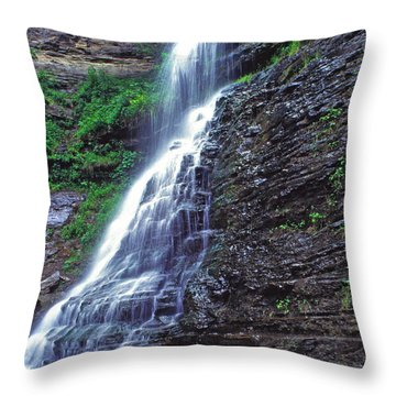 Cathedral Falls In Spring Throw Pillow by Thomas R Fletcher