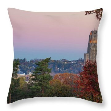 Cathedral Of Learning Throw Pillow by Emmanuel Panagiotakis