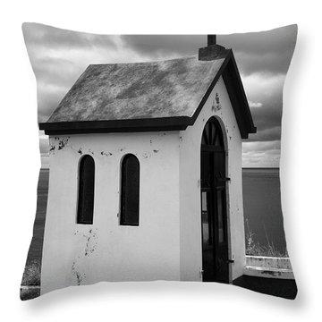 Catholic Chapel Throw Pillow by Gaspar Avila