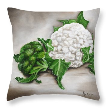 Cauliflower Throw Pillow by Ilse Kleyn