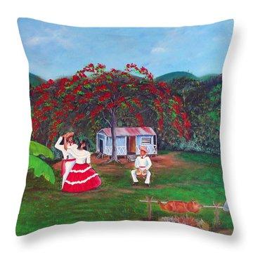 Celebration Throw Pillow by Gloria E Barreto-Rodriguez