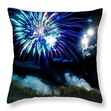 Celebration II Throw Pillow by Greg Fortier