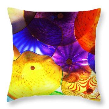Celestial Glass 3 Throw Pillow by Xueling Zou