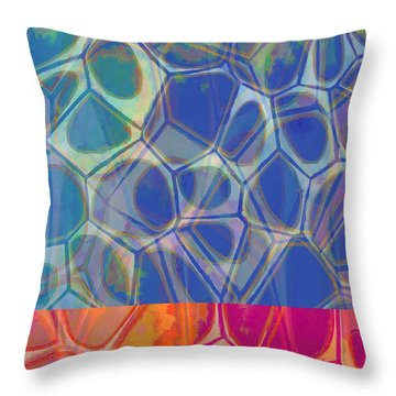 Cell Abstract One Throw Pillow by Edward Fielding