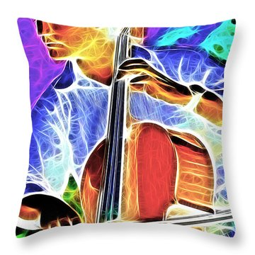Cello Throw Pillow by Stephen Younts