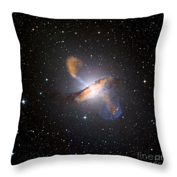 Centaurus A Black Hole Throw Pillow by Nasa