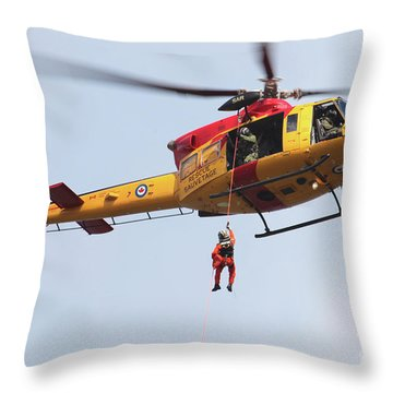 Ch-146 Griffon Of The Canadian Forces Throw Pillow by Timm Ziegenthaler