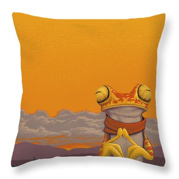 Chachi Tree Frog Throw Pillow by Jasper Oostland