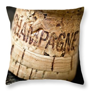 Throw Pillow featuring the photograph Champagne by Frank Tschakert