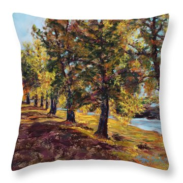 Changing Of The Guard Throw Pillow by Mary Benke