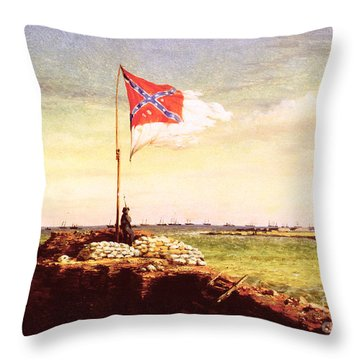 Chapman Fort Sumter Flag Throw Pillow by Granger