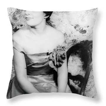 Charlotte Holloman (1922-) Throw Pillow by Granger
