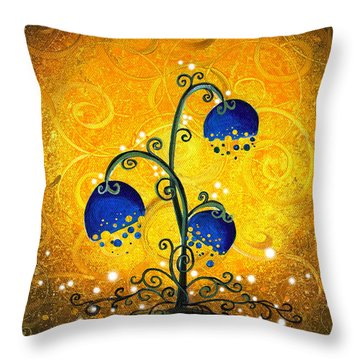 Charmed September Throw Pillow by Cindy Thornton