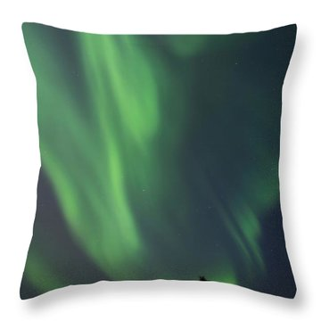 chasing lights II natural Throw Pillow by Priska Wettstein