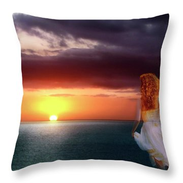 Chasing The Dream Throw Pillow by Robin Webster