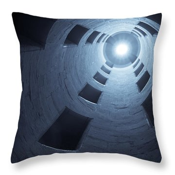Chateau De Chambord Double Staircase Throw Pillow by Sebastian Musial