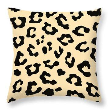 Cheetah Fur Throw Pillow by Priscilla Wolfe