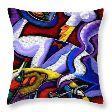 Chef Throw Pillow by Leon Zernitsky
