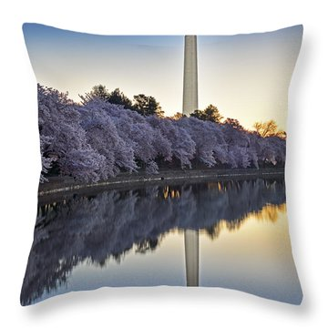 Cherry Blossom Festival - Washington Dc Throw Pillow by Brendan Reals