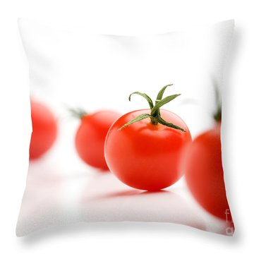 Cherry Tomatoes Throw Pillow by Kati Molin