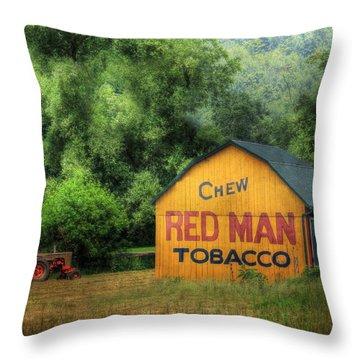 Chew Red Man Throw Pillow by Lori Deiter