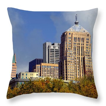Chicago Board Of Trade Building - Cbot Throw Pillow by Christine Till