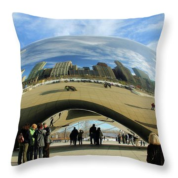 Chicago Reflected Throw Pillow by Kristin Elmquist