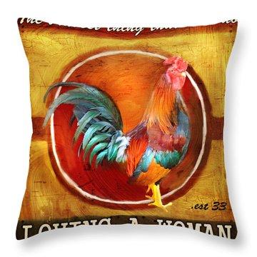 Chicken Little Throw Pillow by Joel Payne