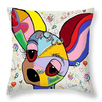 Chihuahua Throw Pillow by Eloise Schneider