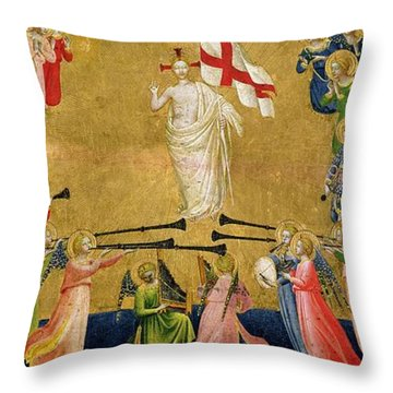 Christ Glorified In The Court Of Heaven Throw Pillow by Fra Angelico