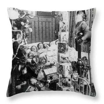 Christmas Eve, C1898 Throw Pillow by Granger