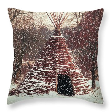 Christmas Tent Throw Pillow by Wim Lanclus