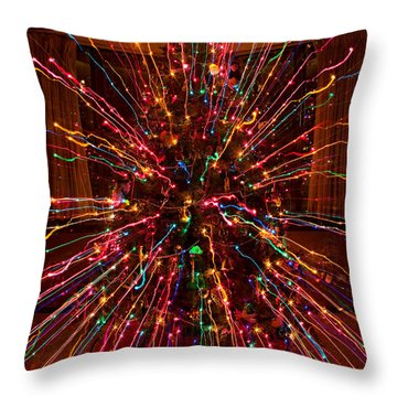 Christmas Tree Colorful Abstract Throw Pillow by James BO  Insogna