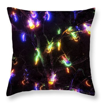 Christmas Violins Throw Pillow by John Rizzuto