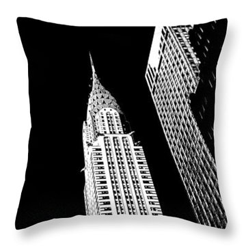 Chrysler Nights Throw Pillow by Az Jackson