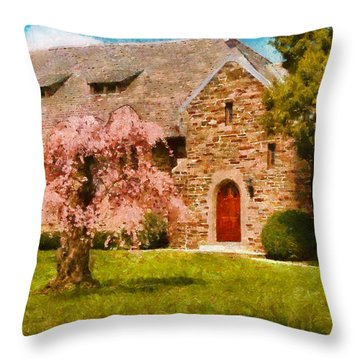 Church - Heaven Created Throw Pillow by Mike Savad