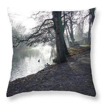 Churchyard Trees Throw Pillow by Rod Johnson