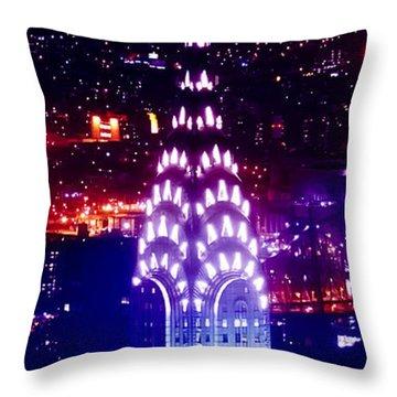 Chyrsler Lights Throw Pillow by Az Jackson