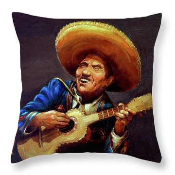 Cielito Lindo Throw Pillow by Hanne Lore Koehler