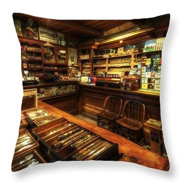 Cigar Shop Throw Pillow by Yhun Suarez