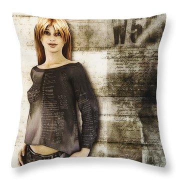 Cindy Throw Pillow by Jutta Maria Pusl