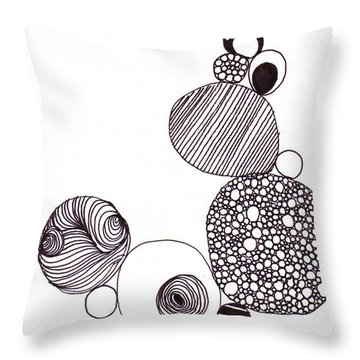 Circ001 Throw Pillow by Zara Ali