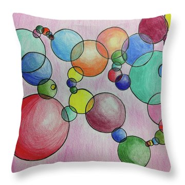 Circular Reasoning Throw Pillow by Donna Blackhall