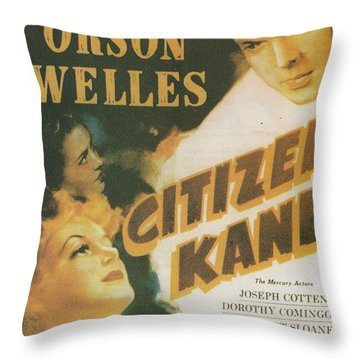 Citizen Kane - Orson Welles Throw Pillow by Georgia Fowler
