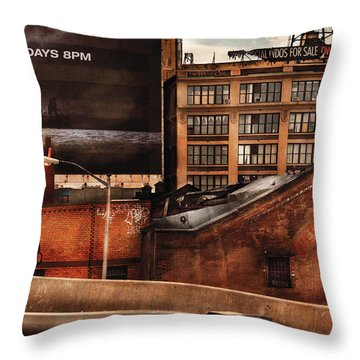 City - Ny - New York History Throw Pillow by Mike Savad