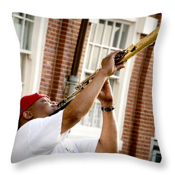 City Jazz Throw Pillow by Greg Fortier