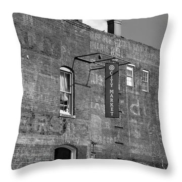 City Market Savannah Throw Pillow by David Lee Thompson