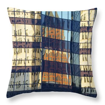 City Reflections 1 Throw Pillow by Anita Burgermeister