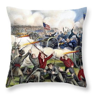 Civil War: Gettysburg, 1863 Throw Pillow by Granger