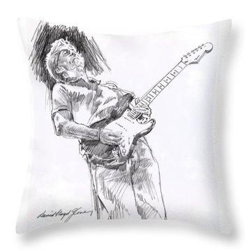 Clapron Blues Down Throw Pillow by David Lloyd Glover